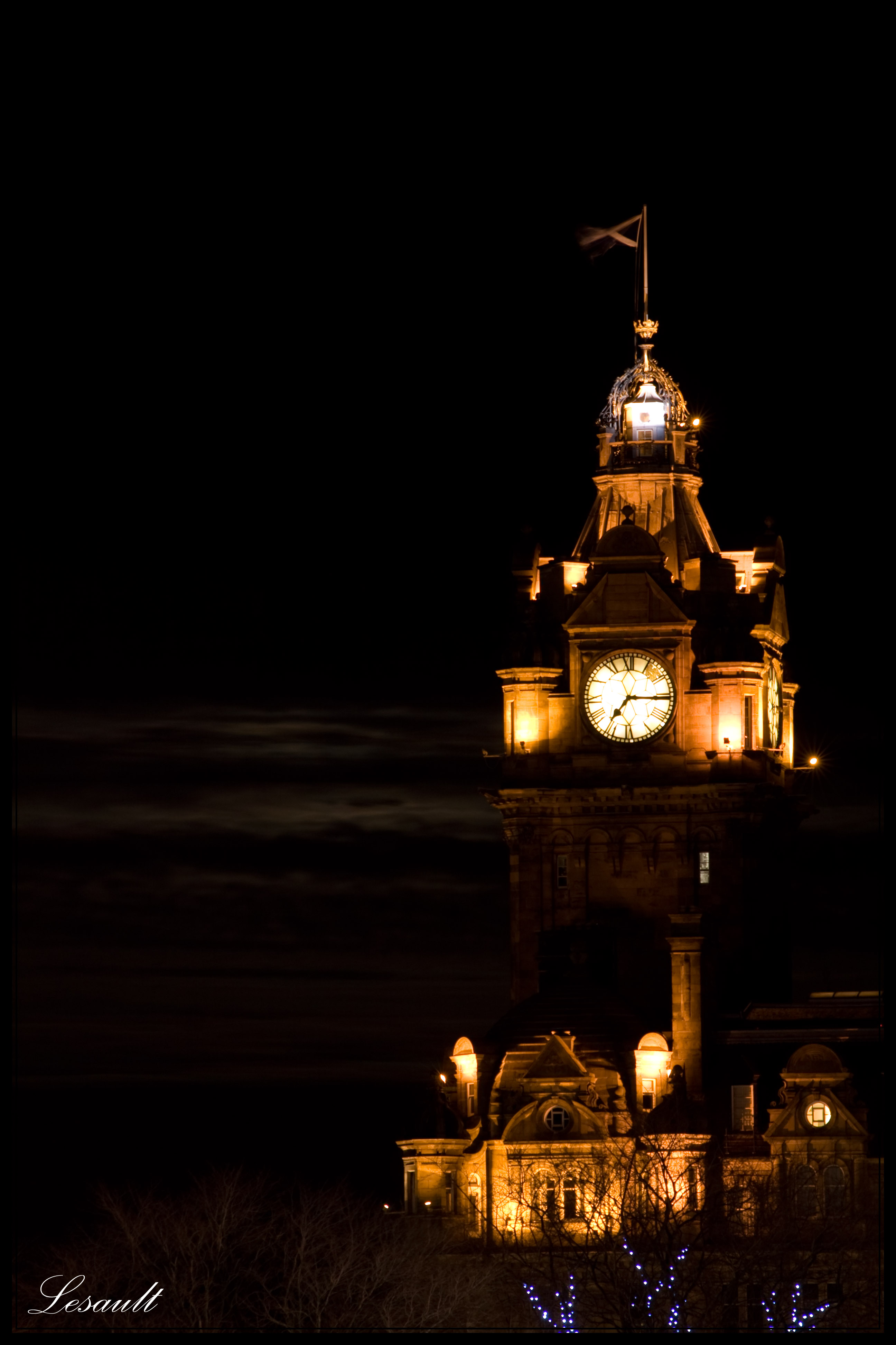 clocktower on the Balmoral Hotel