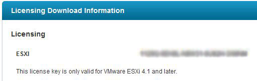 New VmWare license number